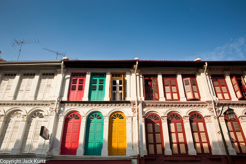 Apr. 28 -- SINGAPORE:   Colorful traditional shophouses in the Chinatown neighborhood of Singapore.    PHOTO BY JACK KURTZ