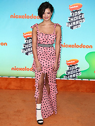 LOS ANGELES, CA, USA - MARCH 23: Nickelodeon's 2019 Kids' Choice Awards held at the USC Galen Center on March 23, 2019 in Los Angeles, California, United States. 23 Mar 2019 Pictured: Peyton Elizabeth Lee. Photo credit: Xavier Collin/Image Press Agency / MEGA TheMegaAgency.com +1 888 505 6342
