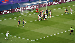 USA's Megan Rapinoe (bottom left) scores her side's first goal of the game