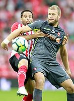Athletic Club de Bilbao's Xavier Etxeita (l) and FC Dinamo Bucuresti's Adam Nemec during Europa League Third Qualifying Round, 2nd leg. April 5,2012. (ALTERPHOTOS/Acero)