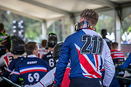 #211 (EVANS Kyle) GBR at staging for Round 5 of the 2018 UCI BMX Superscross World Cup in Zolder, Belgium