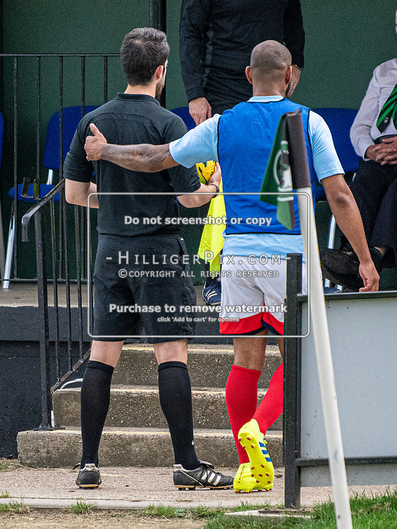 DARTFORD, UK - AUGUST 01: The pre-season friendly match between Phoenix Sports FC and Cray Wanderers FC at The Mayplace Ground on August 1, 2019 in Dartford, UK. <br /> (Photo: Jon Hilliger)