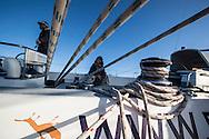 North Atlantic Ocean, September 2014.<br /> The crew on board the Sea Dragon. © Chiara Marina Grioni