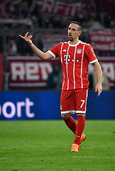 31.03.2018, Allianz Arena, Muenchen, GER, 1. FBL, FC Bayern Muenchen vs Borussia Dortmund, 28. Runde, im Bild Franck Ribery FC Bayern München Gestik, Geste // during the German Bundesliga 28th round match between FC Bayern Munich and Borussia Dortmund at the Allianz Arena in Muenchen, Germany on 2018/03/31. EXPA Pictures © 2018, PhotoCredit: EXPA/ Eibner-Pressefoto/ Weber<br /> <br /> *****ATTENTION - OUT of GER*****