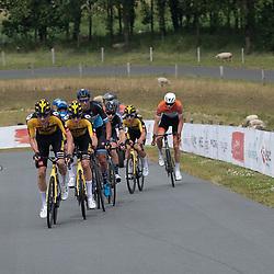 WIJSTER (NED) June 19: <br /> CYCLING <br /> Dutch Nationals Road U23 up and around the Col du VAM<br /> Leading group Mick van Dijke, <br /> Tim van Dijke,<br /> Hidde Van Veenendaal ,<br /> Joren Bloem,<br /> Lars Boven,<br /> Timo de Jong