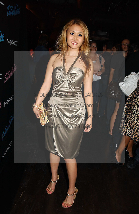 YUKI OSHIMA-WILPON  at a party to celebrate Zandra Rhodes's return to London Fashion week and the launch of a limited edition of M.A.C makeup at Silver, 17 Hanover Square, London W1 on 20th September 2006.<br /><br />NON EXCLUSIVE - WORLD RIGHTS