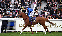 Tabdeed ridden by Jockey Dane O'Neill goes to post for the Jersey Stakes