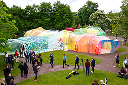 © Licensed to London News Pictures. 22/06/2015. London, UK. Press view of the Serpentine Pavilion 2015, designed by Selgascano, takes place at Serpentine Gallery in Hyde Park, London on Monday, June 22, 2015. Photo credit: Tolga Akmen/LNP