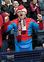 One very happy Hearts fan. Photo: Tom Ross.<br />