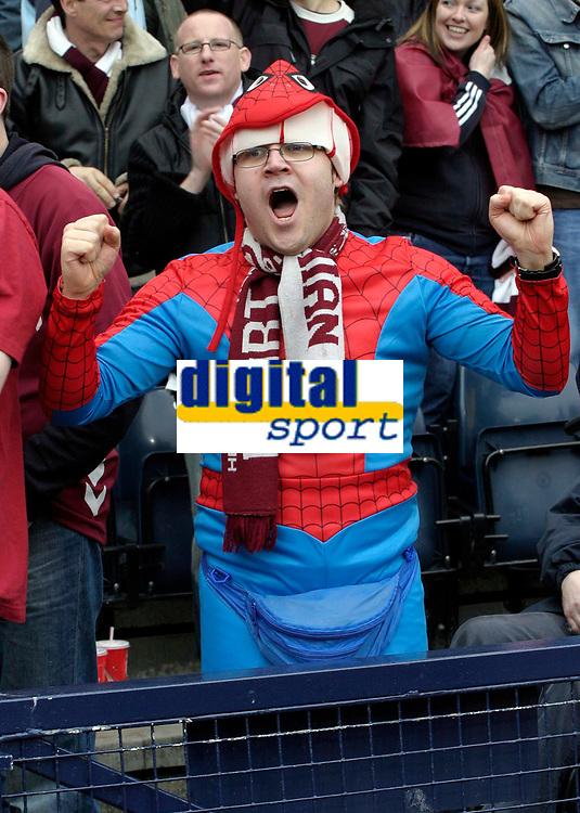 One very happy Hearts fan. Photo: Tom Ross.<br />Hibernian v Hearts. Tennants Scottish Cup, Semi-Final. 02/04/2006.