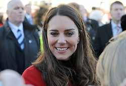 Prince William and Kate Middleton visit St. Andrews University in Scotland on February 25, 2011. The couple returned to the university where they first met as students to launch a fundraising campaign.