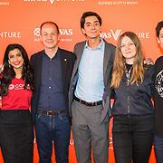 NLD/Amsterdam/20190509 -  Zoe Saldana bij finale van de Chivas Venture, Directeur Chivas met de Finalisten 2019