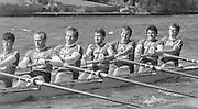 Kingston on Thames, United Kingdom. Leander Club M8+   The final Round of the Leyland Daf Sprint series, at Kingston RC on the River Thames, Surrey, England, N0. 6 Ivor LLOYD,<br /> <br /> Saturday 04.05.1987<br /> <br /> [Mandatory Credit; Peter Spurrier/Intersport-images] 1987 Leyland Daf Sprints, Kingston. UK