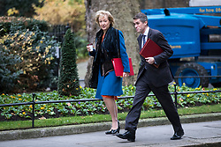© Licensed to London News Pictures. 05/12/2017. London, UK. Leader of the House of Commons Andrea Leadsom (L) and Defence Secretary Gavin Williamson (R) arrive on Downing Street for the weekly Cabinet meeting. Photo credit: Rob Pinney/LNP