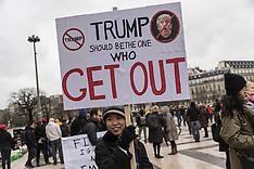 Paris - Protests against Donald Trump