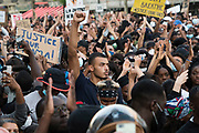 June, 2nd, 2020 - Paris, Ile-de-France, France: Demonstration protesting the death of black Frenchman Adama Traore who died in police custody four years before. In international solidarity against police brutality, concerning the recent murder of George Floyd in Minneapolis USA. Black Tuesday and Black Lives Matter. Nigel Dickinson/Polaris