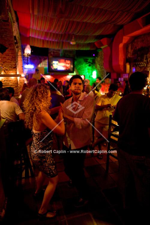 Salsa dancing in Cartagena, Colombia ..Photo by Robert Caplin..