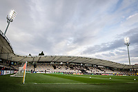 MARIBOR, Slovenia - SEPTEMBER 16: view on stadium during teams warmup befoe during the UEFA Conference League match between Mura and Vitesse at Stadion Ljudski vrt on September 16, 2021 in Maribor, Slovenia