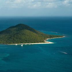 aerial view Buck Island , St. Croix, <br /> Christiansted, U.S. Virgin Islands,