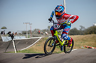 #107 (HOWELL Shanayah) ARU  at Round 9 of the 2019 UCI BMX Supercross World Cup in Santiago del Estero, Argentina