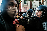 Paris, France, 03/06/20   Riot police is trying to hold of thousands of young protesters during a Black Lives Matter protest in Paris.
