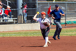 NORMAL, IL - April 06: Emme Olson during a college women's softball game between the ISU Redbirds and the University of Northern Iowa Panthers on April 06 2019 at Marian Kneer Field in Normal, IL. (Photo by Alan Look)