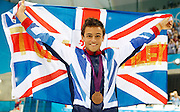 May0041710 . Daily Telegraph..DT News..2012 Olympics..Team GB's Tom Daley wins a Bronze medal in the Mens Diving Finals...11 August 2012....