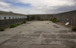 File Photo taken in 2003.<br /> In the frame - The prison exercise yard.<br /> Robbene Island, Cape Town, South Africa, where Nelson Mandela was imprisoned, Picture taken 2003. Friday, 6th December 2013. Picture by   i-Images