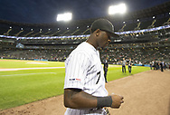 CHICAGO - SEPTEMBER 25:  Tim Anderson #7 of the Chicago White Sox walks toward the dugout prior to the game against the Cleveland Indians on September 25, 2019 at Guaranteed Rate Field in Chicago, Illinois.  (Photo by Ron Vesely)  Subject:   Tim Anderson