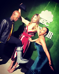 """Heidi Klum releases a photo on Instagram with the following caption: """"Not sure whats happening here ????!!!!! @neyo @officialmelb"""". Photo Credit: Instagram *** No USA Distribution *** For Editorial Use Only *** Not to be Published in Books or Photo Books ***  Please note: Fees charged by the agency are for the agency's services only, and do not, nor are they intended to, convey to the user any ownership of Copyright or License in the material. The agency does not claim any ownership including but not limited to Copyright or License in the attached material. By publishing this material you expressly agree to indemnify and to hold the agency and its directors, shareholders and employees harmless from any loss, claims, damages, demands, expenses (including legal fees), or any causes of action or allegation against the agency arising out of or connected in any way with publication of the material."""