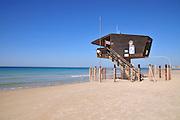 Israel. Haifa, Dado Beach, Lifeguard station