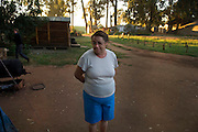 Anne (Ronel's mother) is looking at their present accommodation. She was used to live in one of the best part of Johannesburg, Melville. Very often she look at their caravan remembering her independent house.
