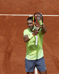 FRANCE-PARIS-TENNIS-ROLAND GARROS-DAY 4.(190529) -- PARIS, May 29, 2019  Rafael Nadal of Spain celebrates after the men's singles second round match with Yannick Maden of Germany at French Open tennis tournament 2019 at Roland Garros, in Paris, France on May 29, 2019. (Credit Image: © Xinhua via ZUMA Wire)