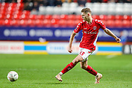 Charlton Athletic defender Toby Stevenson (43) during the The FA Cup 2nd round match between Charlton Athletic and Doncaster Rovers at The Valley, London, England on 1 December 2018. Photo by Toyin Oshodi