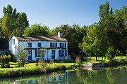 Quaint picturesque house by River La Sevre-Niortaise in Coulon in the Marais Poitrevin region, Grand Site de France