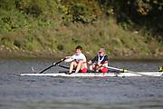 Crew: 34 - Clark / Valt - Tideway Scullers School - Op 2- Championship <br /> <br /> Pairs Head 2020
