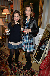 Left to right, SOPHIE GOODWIN and EMILY GOAD at a ladies lunch hosted by Katie Readman for sisters Lucia & Rosie Ruck Keene founders of a new fashion label - Troy, held at 5 Hertford Street, London on 27th January 2015.