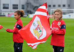 Guard of honour at Stoke Gifford Stadium - Mandatory by-line: Paul Knight/JMP - 30/09/2017 - FOOTBALL - Stoke Gifford Stadium - Bristol, England - Bristol City Women v Yeovil Town Ladies - FA Women's Super League 1