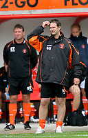 Photo: Paul Greenwood.<br />Blackpool v Bristol City. Coca Cola Championship. 18/08/2007.<br />Blackpool manager Simon Grayson scratches his head in bemusement as Bristol score against the run of play