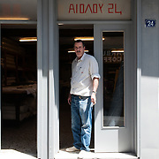 Lefteris Efthimou, 59 yo, shop owner,  24 Aeolou Str,  Athens, Greece