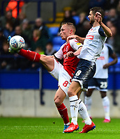 Fleetwood Town's Kyle Dempsey vies for possession with Bolton Wanderers' Luke Murphy<br /> <br /> Photographer Richard Martin-Roberts/CameraSport<br /> <br /> The EFL Sky Bet League One - Bolton Wanderers v Fleetwood Town - Saturday 2nd November 2019 - University of Bolton Stadium - Bolton<br /> <br /> World Copyright © 2019 CameraSport. All rights reserved. 43 Linden Ave. Countesthorpe. Leicester. England. LE8 5PG - Tel: +44 (0) 116 277 4147 - admin@camerasport.com - www.camerasport.com
