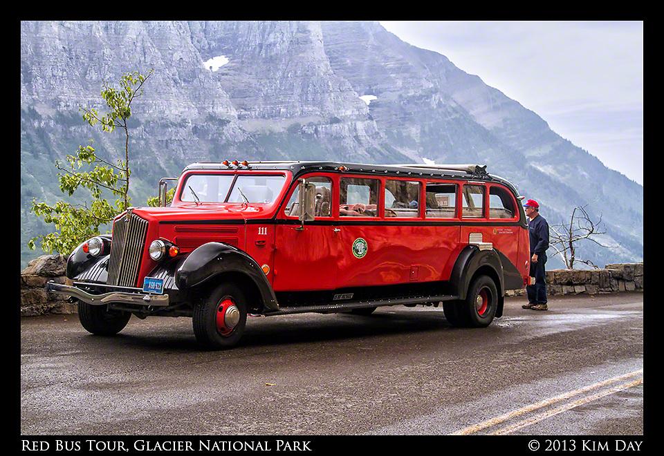 Red Bus Tour<br /> Glacier National Park<br /> September 2012