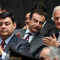 Toluca,  Mex -  Xavier Maawad, delegado del IMSS en el Estado de Mexico durante la presentacion del Plan de  Desarrollo Estatal 2011-2017 del gobernador Eruviel Avila Villegas.   Agencia MVT / Jose Hernadez