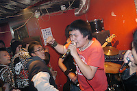 Punk concert in central Beijing, China.