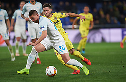 March 14, 2019 - Vila-Real, Castellon, Spain - Miguel Llambrich of Villarreal CF and Robert Mak of Zenit Saint Petersburg during the Uefa Europa League round of 16 second leg match between Villarreal and Zenit Saint Petersburg at Estadio de la Ceramica on March 14, 2019 in Vila-real Spain. (Credit Image: © AFP7 via ZUMA Wire)
