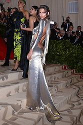 Emily Ratajkowski walking the red carpet at The Metropolitan Museum of Art Costume Institute Benefit celebrating the opening of Heavenly Bodies : Fashion and the Catholic Imagination held at The Metropolitan Museum of Art  in New York, NY, on May 7, 2018. (Photo by Anthony Behar/Sipa USA)
