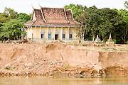 15 MARCH 2006 - PEAM CHIHYKAUNG, KAMPONG CHAM, CAMBODIA: A Buddhist temple (Wat) along the Mekong River near the village of Peam Chihykaung in central Cambodia. PHOTO BY JACK KURTZ