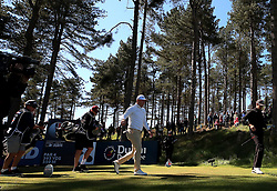 England's Matt Wallace on the 8th tee during day three of the Betfred British Masters at Hillside Golf Club, Southport.