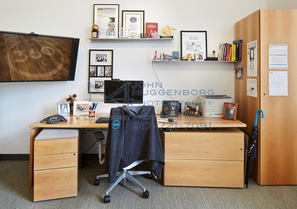 The office of Sarah Hofstetter at the 360i headquarters in NYC.