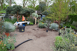 Building the Winton Beauty of Mathematics Garden, RHS Chelsea Flower show 2016. Designed by Nick Bailey